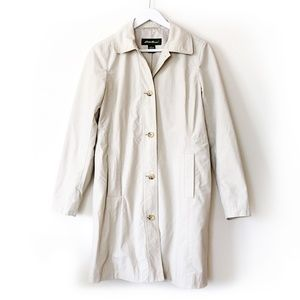 Eddie Bauer | Classic long button trench coat, tan